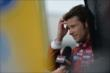 Marco Andretti gives an interivew on pit lane following qualifications for Race 1 of the Honda Indy Toronto -- Photo by: Eric Anderson