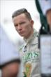 Mike Conway stands on pit lane prior to qualifications for Race 1 of the Honda Indy Toronto -- Photo by: Eric Anderson