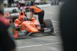Simon Pagenaud receives final instructions prior to qualifications for Race 1 of the Honda Indy Toronto -- Photo by: Eric Anderson