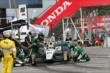 Mike Conway comes in for service during Race 1 of the Honda Indy Toronto -- Photo by: Chris Jones