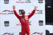 Tony Kanaan celebrates his 3rd Place for Race 1 of the Honda Indy Toronto -- Photo by: Chris Jones