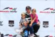 Sebastien Bourdais celebrates his Honda Indy Toronto Race 1 win with his children -- Photo by: Chris Jones