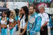 James Hinchcliffe on pit lane during pre-race festivities for Race 2 of the Honda Indy Toronto -- Photo by: Chris Jones
