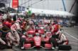 The Target Chip Ganassi Racing team of Scott Dixon go to work during an early pit stop in Race 2 of the Honda Indy Toronto -- Photo by: Chris Jones
