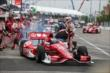Scott Dixon peels out of pit lane during an early stop in Race 2 of the Honda Indy Toronto -- Photo by: Chris Jones
