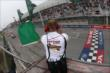 The green flag flies for the start of Race 1 of the Honda Indy Toronto -- Photo by: Chris Jones