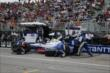 The NTT Data Chip Ganassi Racing team of Ryan Briscoe go to work during Race 1 of the Honda Indy Toronto -- Photo by: Chris Jones