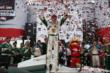 Mike Conway celebrates his victory in Race 2 of the Honda Indy Toronto -- Photo by: Chris Jones