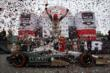 Mike Conway jumps from his car after winning Race 2 of the Honda Indy Toronto -- Photo by: Chris Jones
