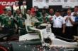 Mike Conway rides on top of his car following his win in Race 2 of the Honda Indy Toronto -- Photo by: Chris Jones
