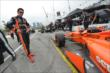 Simon Pagenaud waits on pitlane prior to Race 1 of the Honda Indy Toronto -- Photo by: Chris Owens