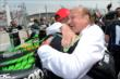 Sebastien Bourdais gets a congratulatory hug from team co-owner Kevin Kalkhoven after winning Race 1 of the Honda Indy Toronto -- Photo by: Chris Owens