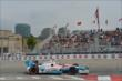James Hinchcliffe heads toward Turn 11 during Race 1 of the Honda Indy Toronto -- Photo by: Chris Owens