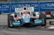 James Hinchcliffe apexes Turn 9 during Race 1 of the Honda Indy Toronto -- Photo by: Chris Owens