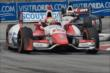 Justin Wilson and Will Power enter Turn 9 during Race 1 of the Honda Indy Toronto -- Photo by: Chris Owens