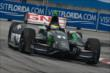 Sebastien Bourdais apexes Turn 9 during Race 1 of the Honda Indy Toronto -- Photo by: Chris Owens