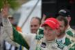 Mike Conway waives to the crowd after winning Race 2 of the Honda Indy Toronto -- Photo by: Eric Anderson