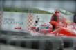 Tony Kanaan asks for being refired after an early slideoff during Race 2 of the Honda Indy Toronto -- Photo by: Eric Anderson