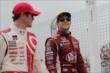 Marco Andretti and Scott Dixon take a parade lap prior to the start of Race 2 of the Honda Indy Toronto -- Photo by: Joe Skibinski