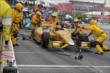 Ryan Hunter-Reay makes a late pit stop during Race 2 of the Honda Indy Toronto -- Photo by: Joe Skibinski