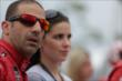 Tony Kanaan and his wife Lauren during pre-race festivities prior to Race 2 of the Honda Indy Toronto -- Photo by: Shawn Gritzmacher