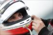 Will Power has his helmet adjusted prior to Race 2 of the Honda Indy Toronto -- Photo by: Shawn Gritzmacher