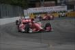 Scott Dixon leads a group into Turn 9 during Race 2 of the Honda Indy Toronto -- Photo by: Shawn Gritzmacher