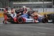 The Holmatro Safety Team aid Mikhail Aleshin and Juan Pablo Montoya during an incident in Turn 8 during Race 2 of the Honda Indy Toronto -- Photo by: Shawn Gritzmacher