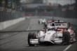 Juan Pablo Montoya dives into Turn 3 during Race 1 of the Honda Indy Toronto -- Photo by: Shawn Gritzmacher